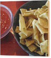 Mexican Inn Chips And Salsa Wood Print