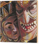 Mexican Masks Wood Print