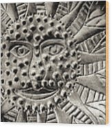 Mexican Mirror Detail Wood Print