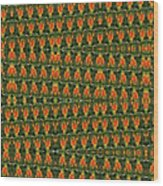 Mexican Poppy Field Abstract Wood Print