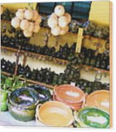 Mexican Pottery Wood Print