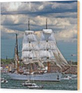 Mexican Tall Ship Cuathtemocl Wood Print