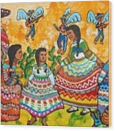 Mexican Women Wood Print