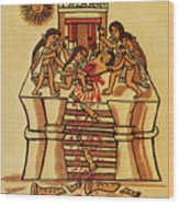 Mexico: Aztec Sacrifice Wood Print