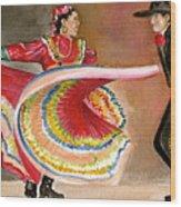 Mexico City Ballet Folklorico Wood Print