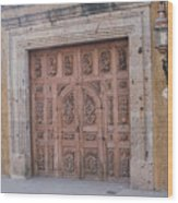 Mexico Door 1 By Tom Ray Wood Print