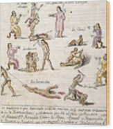 Mexico: Indian Punishments Wood Print