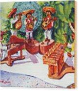Mexico Mariachis Wood Print