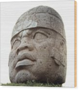 Mexico: Olmec Head Wood Print
