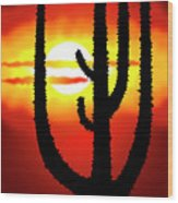 Mexico Sunset Wood Print