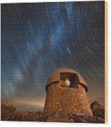 Meyer Womble Star Trails Wood Print