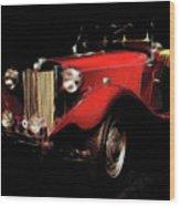 Mg Midget Roadster Wood Print