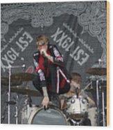 Mgk Drums Wood Print