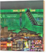 Mgm Grand Las Vegas Wood Print