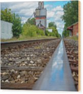 Mi New Haven Rail Road Reflections Wood Print
