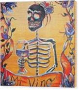 Mi Vino Wood Print
