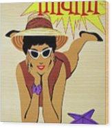 Miami Travel By Braniff Airways  1960 Wood Print