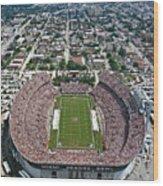 Miami Aerial Of Orange Bowl Stadium Wood Print