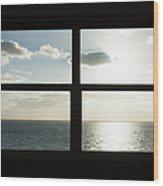 Miami Beach Art Deco Window Over The Ocean Wood Print