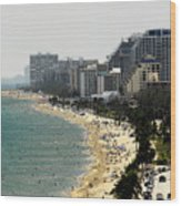 Miami Beach Fla Wood Print