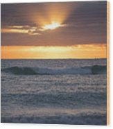 Miami Beach Florida Sunrise Wood Print