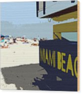 Miami Beach Work Number 1 Wood Print