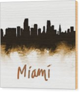 Miami Fla 2 Skyline Wood Print