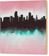 Miami Fla Skyline Wood Print