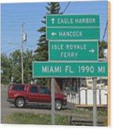 Miami Florida 1990 Miles Us41 Wood Print