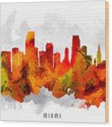 Miami Florida Cityscape 15 Wood Print