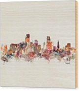 Miami Florida Skyline Wood Print