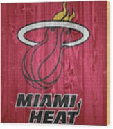 Miami Heat Barn Door Wood Print