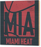 Miami Heat City Poster Art Wood Print