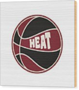 Miami Heat Retro Shirt Wood Print
