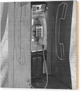 Miami Pay Phone Wood Print