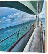 Miami Reflection Wood Print