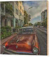 Miami Ride Wood Print