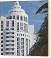 Miami S Capitol Building Wood Print