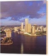 Miami Skyline 3 Wood Print