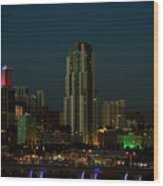 Miami Skyline Wood Print