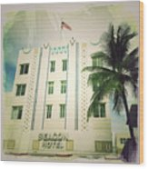 Miami South Beach Ocean Drive 3 Wood Print