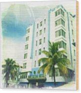 Miami South Beach Ocean Drive 4 Wood Print
