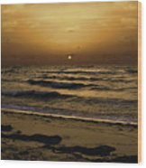 Miami Sunrise Wood Print by Gary Dean Mercer Clark