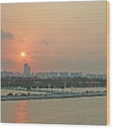 Miami Sunrise Wood Print