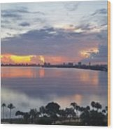 Miami Sunrise Part 1 Wood Print
