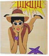 Miami Travel Poster Wood Print