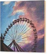 Mia's Ferris Wheel Wood Print