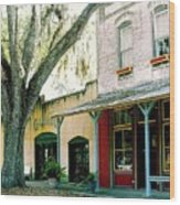 Micanopy Storefronts Wood Print