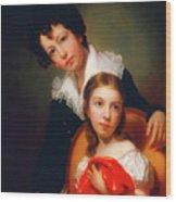 Michael Angelo And Emma Clara Peale Wood Print