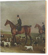 Michael Beverley With His Whipper In And Harriers Wood Print